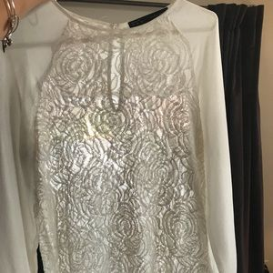 Zara White with Lace Blouse